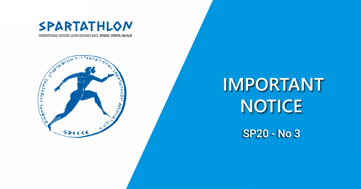 Important Notice SP20 - No 3 (UPDATED 17/08/20)